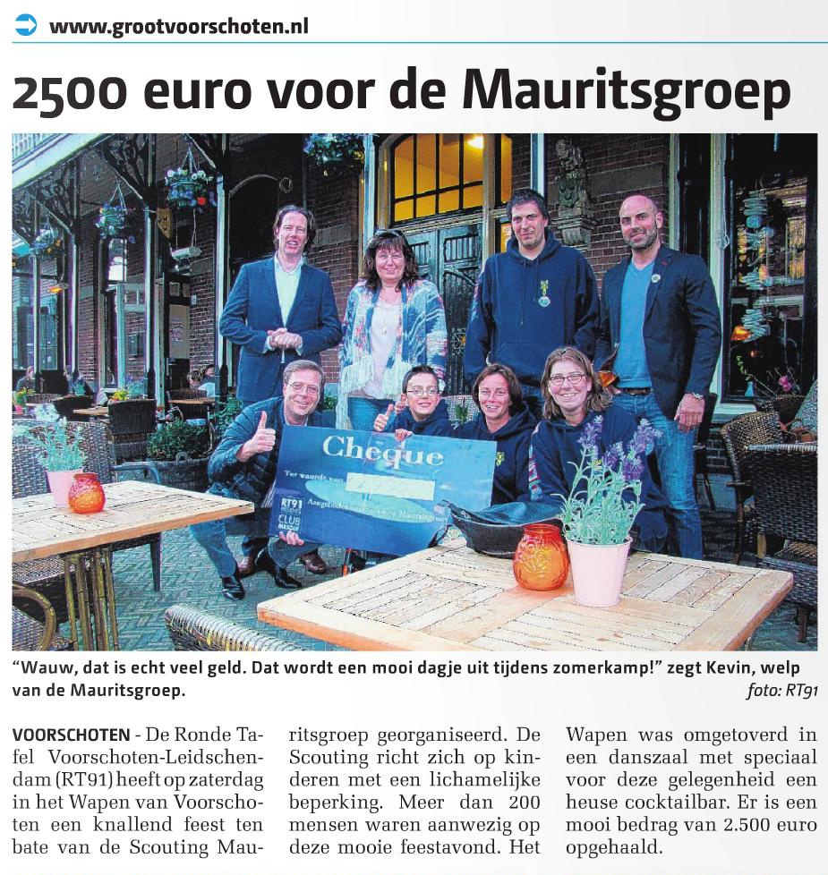 2500 voor de Mauritsgroep